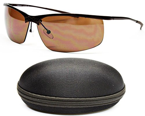 d7c6a7364dd1 X503-cc Xsportz Brand Sports Metal Wrap Sunglasses (502 Bronze-brown