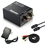 DIGISION Optical Digital to RCA L/R Analog Audio Converter