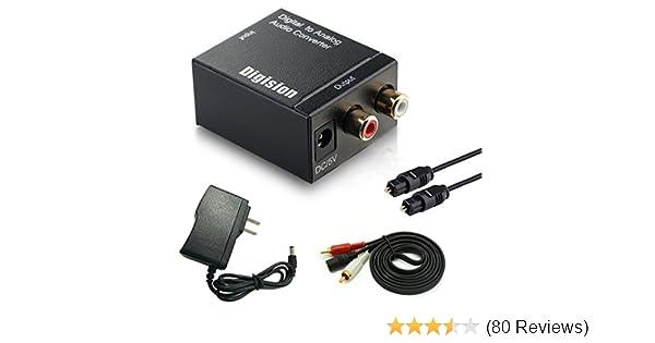 DIGISION Optical Digital to RCA L/R Analog Audio Converter: Amazon.com: Industrial & Scientific