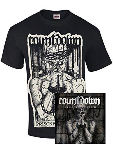 "COUNTDOWN ""PRISONED BY FAITH"" T-Shirt blk. + CD (Hardcore)"