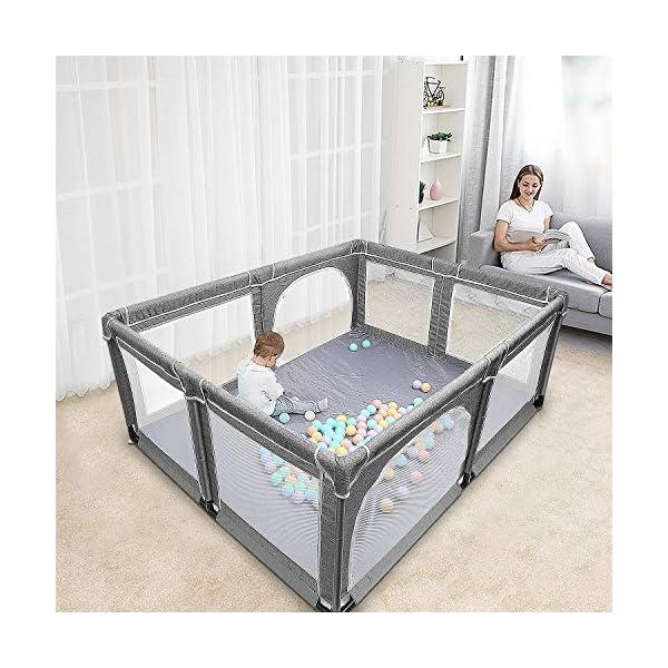 Box per bambini, box XL, centro di attività per bambini, interno ed esterno, con base antiscivolo, griglia di protezione… 7 spesavip