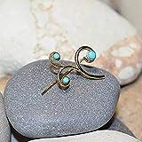 Turquoise EAR CLIMBER Earrings // 14k Gold Filled Ear Pins - Up The Ear Earrings - Ear Sweep - Ear Wrap - Ear Crawler - Ear Cuff