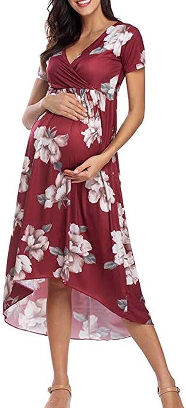 Vestidos para Mujeres Embarazadas SUNNSEAN Vestidos sin Tirantes ...