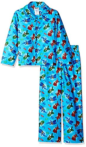 Boys PJ Masks Flannel Coat Style Pajama Set featuring (Catboy - Owlette - Gekko) (Coat Style Pajamas)