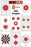 200 EZ2C Targets - Eight Popular Styles Combo Package