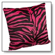 Brentwood Originals 18-Inch Zebra Fur Pillow