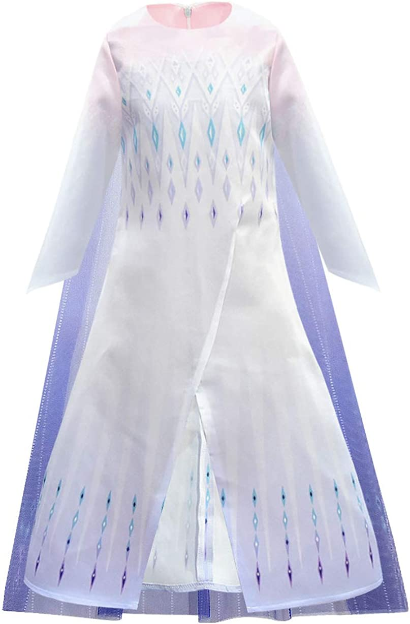 AmzBarley Princess Costume for Girls Birthday Theme Party Dress Up Halloween Cosplay Role Play Outfits
