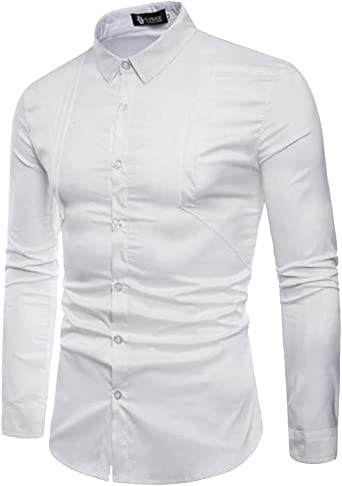 Hombre Camisa Manga Larga Slim Fit: Amazon.es: Ropa y accesorios