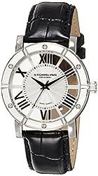 Stuhrling Original Men's 881.01 Winchester Swiss Quartz Black Genuine Leather Strap Watch