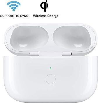 BLEAKTEIR - Funda de Carga para AirPods Pro con botón de sincronización para Cargar AirPod Pro y emparejar con iPhone, QI Wireless Charger Case: Amazon.es: Electrónica