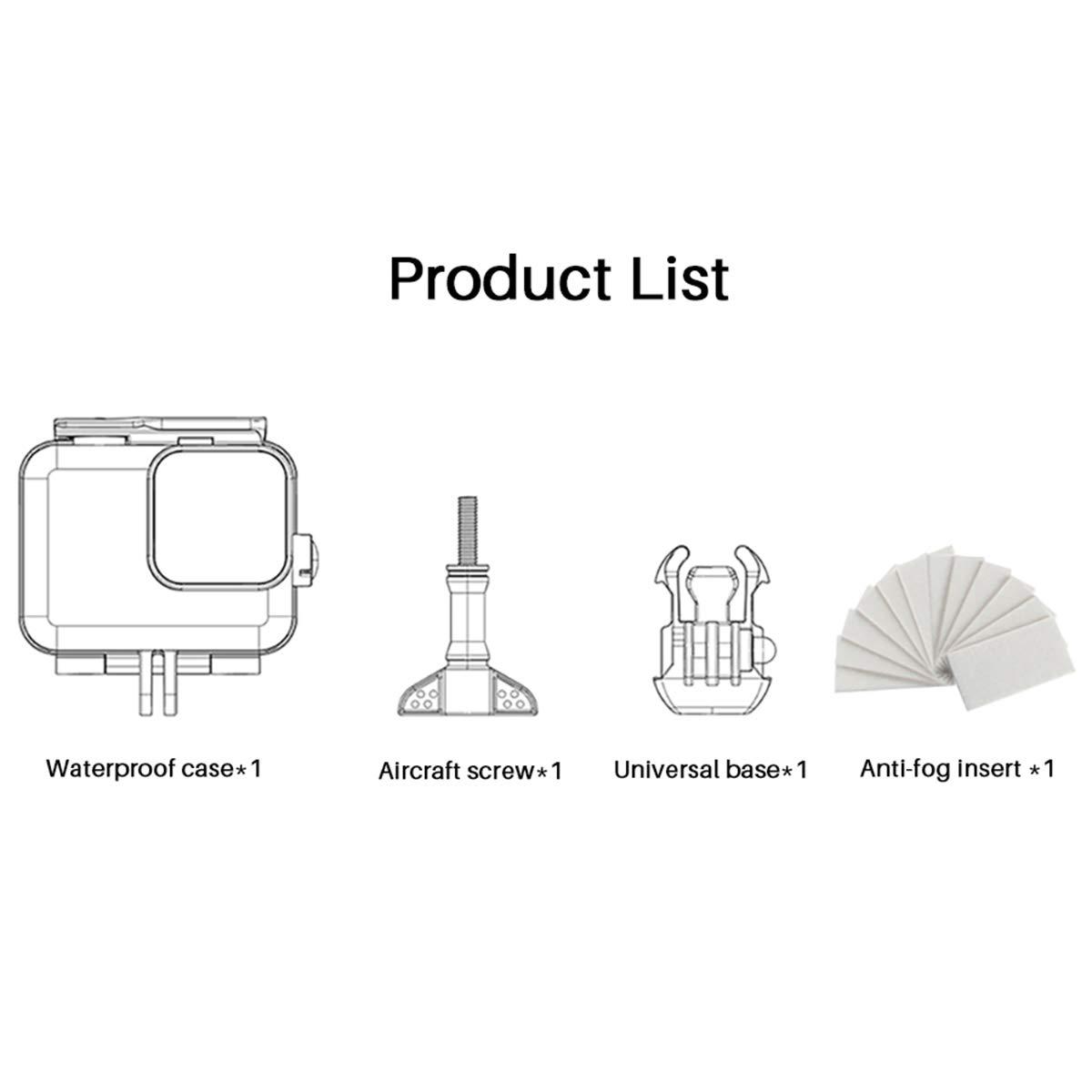 Quick Use with Tripod ULANZI G8-4 Protective Case Bag for GoPro Hero 8 Potable Pocket Bag Black