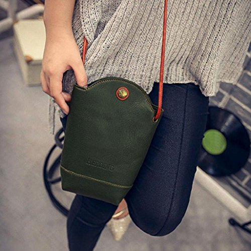 Crossbody Bags Slim Messenger Shoulder Handbag Green Bags Women Creazrise aBpf6q4w
