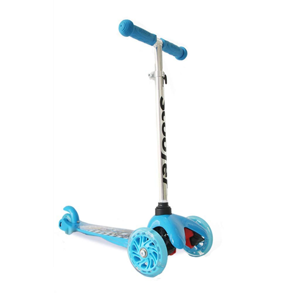 XUEYING-KickScooter Kinderroller-Roller-Dia-Karikatur-Muster-Schwingen-Auto-Blitzrad (Farbe   Rosa) Blau