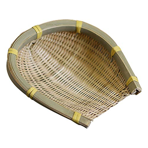 HWTP Handmade Bamboo Weaving Storage Basket Fruit Dish Rattan Bread Baskets for Kitchen Food Picnic Bread Sundry Sushi Snack Plate,1112cm