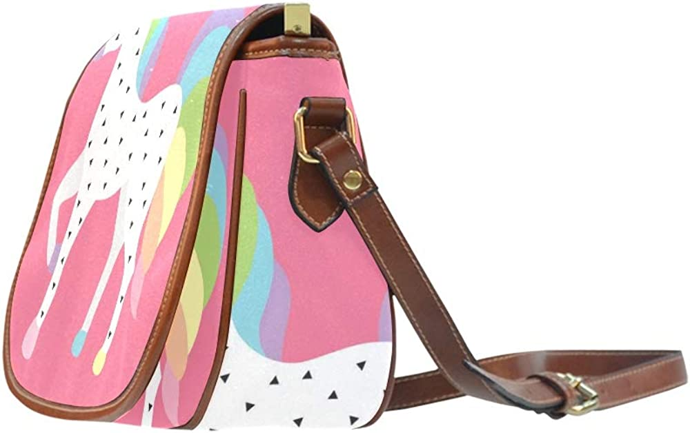 Sweet Cartoon Unicorn Child And Baby Womans Carryon Bag Flap With Magnetic Snap Printed Shoulder Saddle Bags Shoulder Bag For Girls