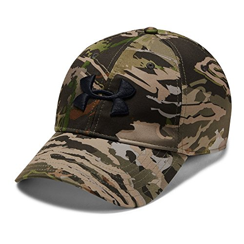 Under Armour Men's Camo Stretch Fit Cap, Ua Forest Camo (940)/Black, Large/X-Large