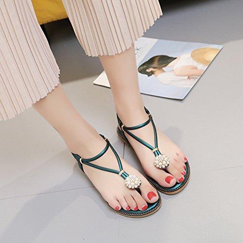 YMFIE comode Boemia con nuovo Estate con antiscivolo e sandali scarpe white sandali rfwqrSx1Y
