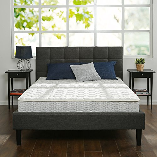 Zinus 8 Inch Hybrid Green Tea Foam and Spring Mattress, Full (Full Size Mattress)