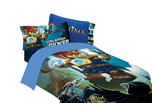 3pc Lego Legends of Chima Twin-Full Comforter and Pillowcase Set Laval Unleash the Power Bedding