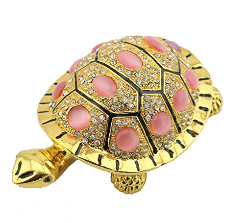 - Korea Style Turtle Shape Jewelry Box Crystal Turtle Gifts Box Studded Decorative Jeweled Turtle Trinket Box