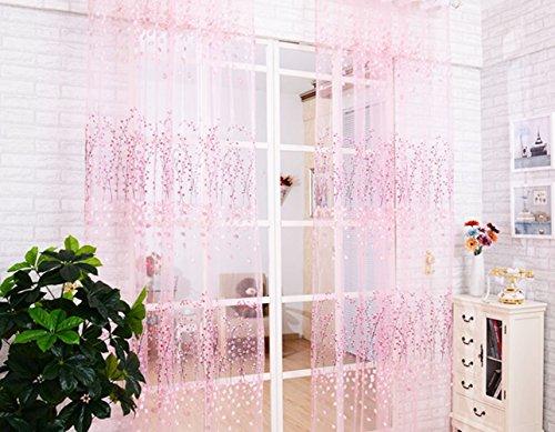 YUETON Floral Balcony Curtain Valance