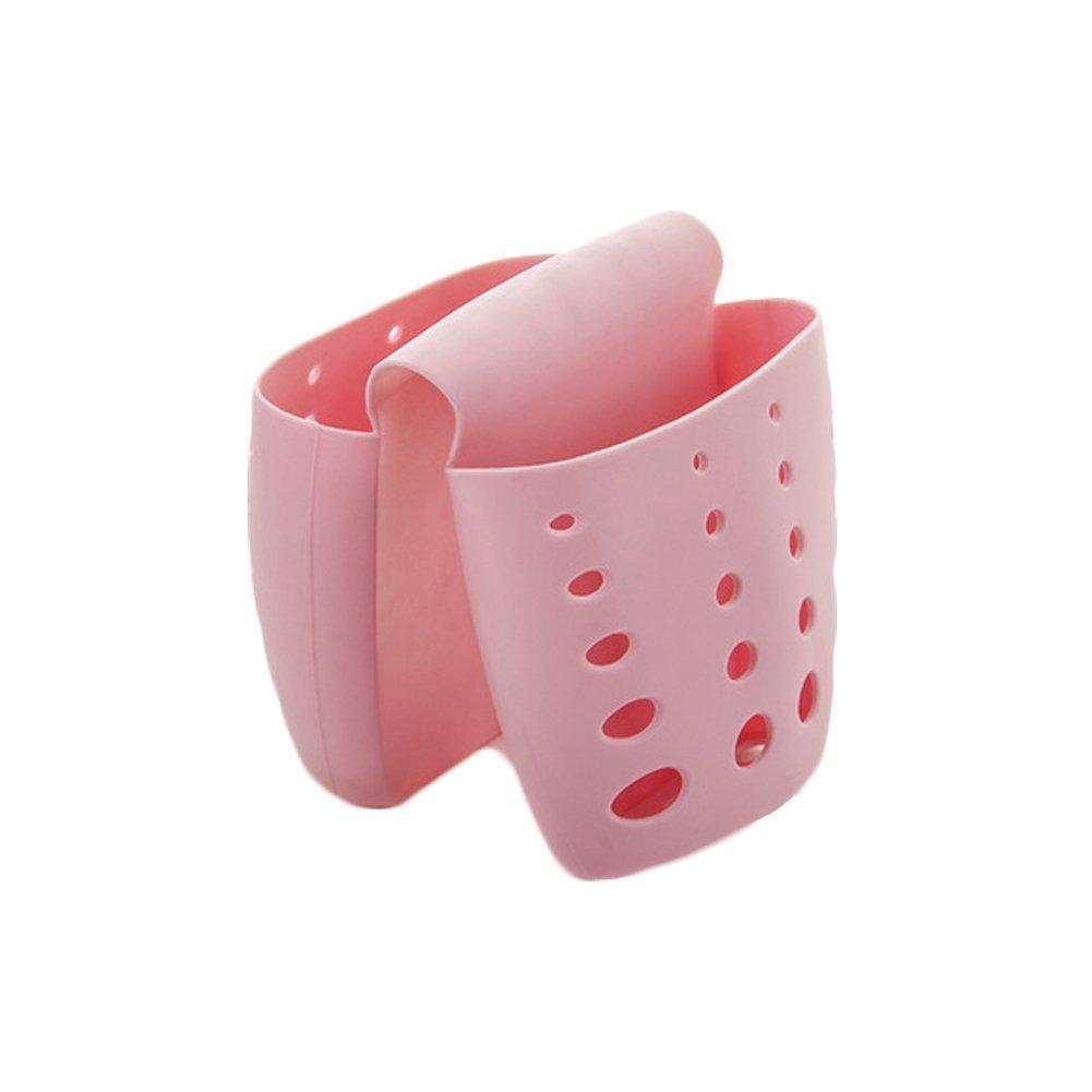 g-king Sponge Sink Holder, da appendere in silicone da cucina gadget Storage organizer, ceste da bagno con doccia di scarico Pink