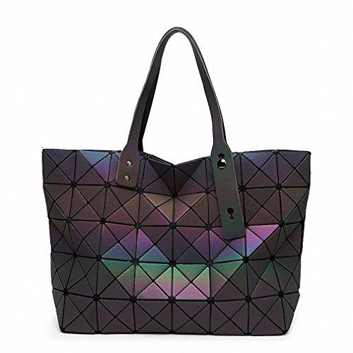 NEW Women Handbag Bao Bao Bag Geometry Luminous Sequins Plain Folding Shoulder Bags Tote Famous Brands Lady BaoBao Handbags 78 - New Folding Handbag Purse