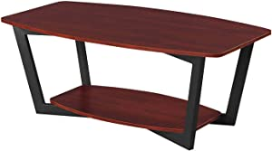 Convenience Concepts Graystone Coffee Table, Cherry / Black Frame