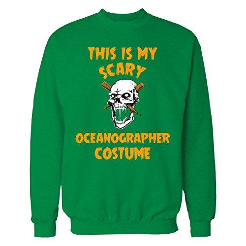 Oceanographer Costume (This Is My Scary Oceanographer Costume Halloween Gift - Sweatshirt Irish_green M)