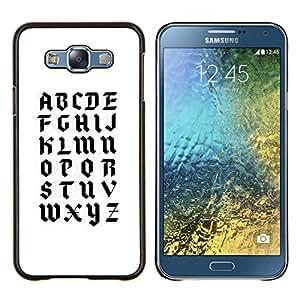 LECELL--Funda protectora / Cubierta / Piel For Samsung Galaxy E7 E700 -- A a la Z --
