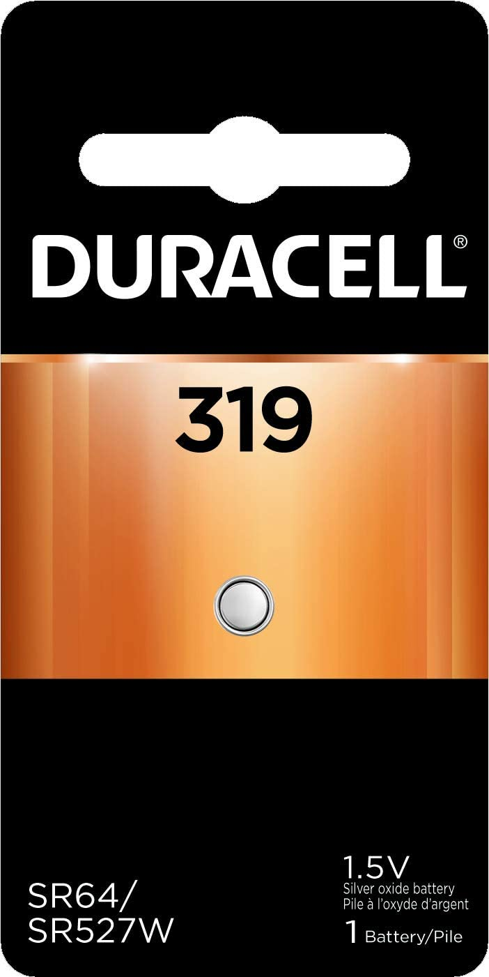 Duracell - 319 Silver Oxide Button Battery - long lasting battery - 1 count