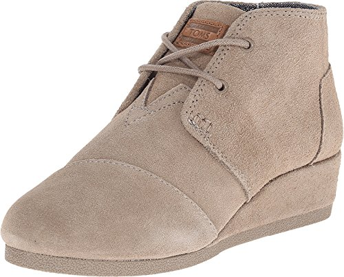 TOMS Kids Desert Wedge Taupe Casual Shoe 6
