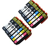 Tyjtyrjty Compatible T3357 T33XL Ink Cartridges for Epson Expression Premium XP-635 Printers Compatible Epson T3357 - T3351 T3361 T3362 T3363 T3364 Compatible Inkjets Cartridges