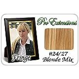 ProExtensions #24/27 Light Blonde w/ Golden Lowlights Pro Fringe Clip In Bangs