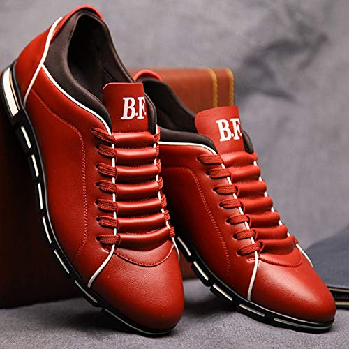 Plano Encaje Los De Moda Top Hombres Zapatos Bajo Cómodos Mocasines Rojo Casuales wq8YdZq
