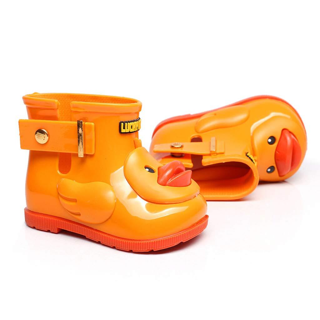 Stivali Pioggia Bambini Rain Boots Bimba Morbide Piccola Anatra Gialla Stivaletti Scarpe Antipioggia in PVC Resistente Impermeabile Antiscivolo Wellies Unisex per Ragazzi Ragazze