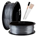 Shine Silver PLA 3D Printer Filament 1.75mm Silk Shiny Aluminium Metal Silver 3D Printing Material Widely Compatible 3D Printers TTYT3D