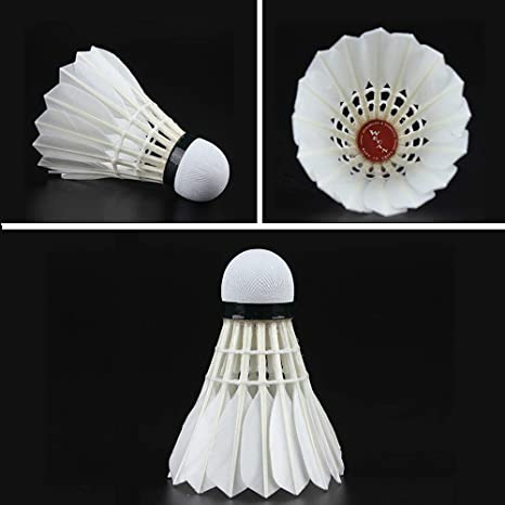 Highly Durable and Stable Duck Feather Shuttlecocks for Club//Indoor//Outdoor Game//Play//Training,12 Pcs Wecan Badminton Shuttlecocks