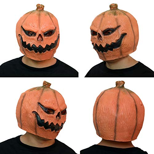 Brave669 Funny Latex Pumpkin Head Mask Costume Halloween Cosplay Party Prop Toy Gift -