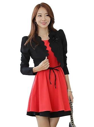 04c41b8fd222e  sweet bell  ボレロ 結婚式 長袖 パーティー ジャケット ブラック 黒 大きいサイズ LLサイズ