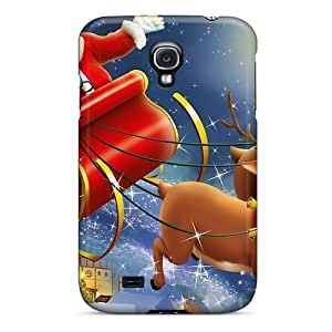 Galaxy S4 Hard Back With Bumper Silicone Gel Case Cover Santa Claus