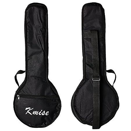 Kmise Banjo Ukulele Uke Banjo lele Tasche Konzert 23 Zoll Größe Schwarz Ltd