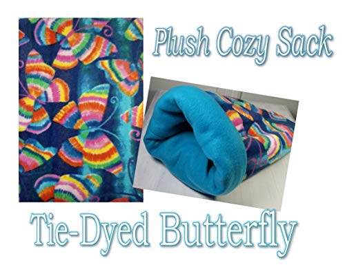- Hart's Critter Care Fleece Cozy Sack for Both Snuggling Your Pet and a Pet Bed. for Guinea Pigs, Chinchillas, Hedgehogs and Other Small Animals. Made in The U.S.A (Plush Tie Dyed Butterfly)