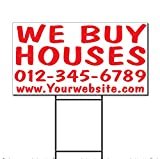 we buy houses - We Buy Houses Phone Custom Corrugated Plastic Yard Sign /Free Stakes Two Sides Print 18 x 24