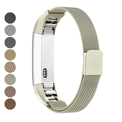 - Greeninsync Compatible Fit Bit Alta Bands Metal, Replacement for Fit Bit Alta HR Band Milanese for Women Men Girls Boys Small Large, Loop and Magnet Lock Design Adjustable Accessories Wristband