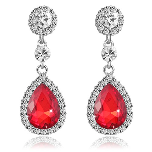 iWenSheng Womens Crystal Earrings Wedding