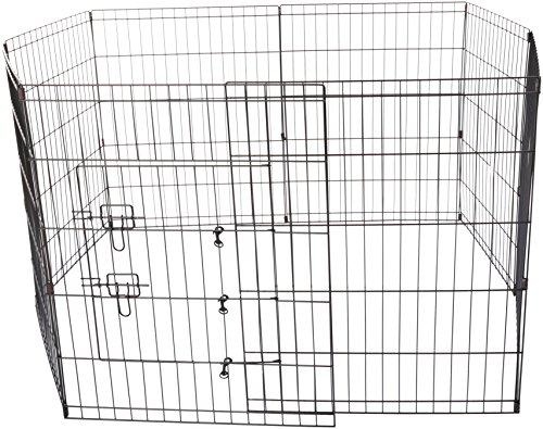 OxGord Metal Wire 8-Panel Folding Exercise Yard Fence for Pe