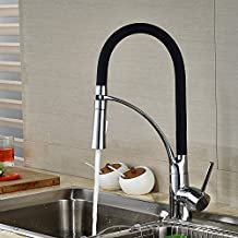 Votamuta Kitchen Faucet, Durable and Sturdy Pull Out Kitchen Faucet with Sprayer.Deck Mounted Pull-Down Sink Faucet