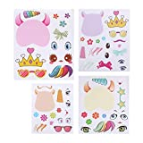#4: 24Pk Make A Unicorn Stickers - Unicorn Party Favors - Fun Craft Project Unicorn Party Supplies - Let Your Kids Get Creative & Design Their Favorite Unicorn Stickers