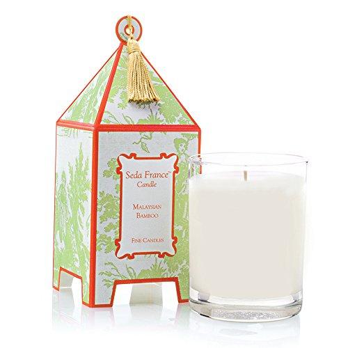 Seda France Classic Toile Pagoda Box Candle, Malaysian, 10.2 Ounce